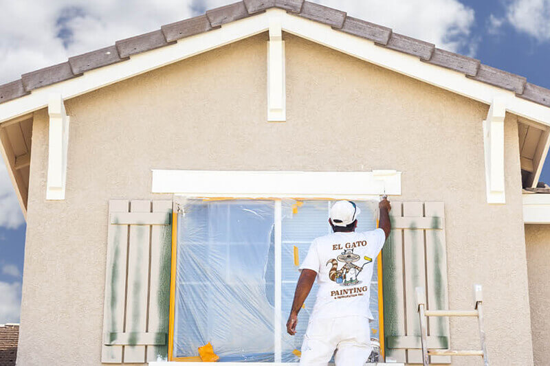 elgato painter painting a house