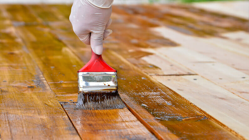 restoring staining deck