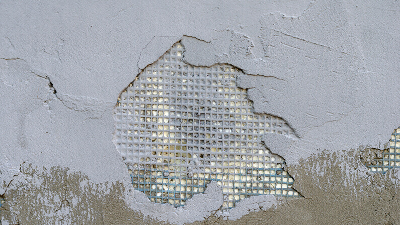 how to repair damaged stucco wall