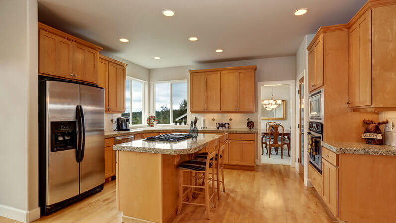 stained cabinets kitchen furnitures